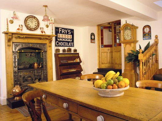 Kitchen with Bowl of Fruit on Table