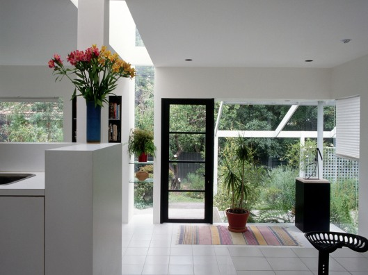 White House Interior with Windows Looking out into Garden