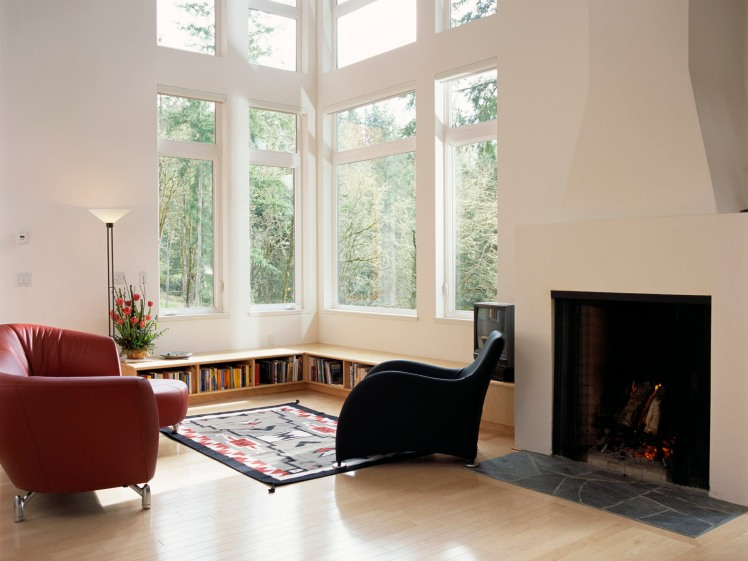 Living Room with Tall Windows
