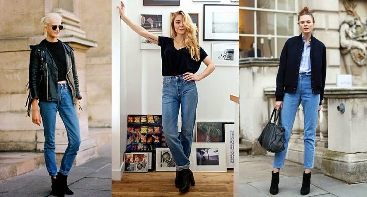 how-to-wear-mom-jeans-leather-jacket-boots