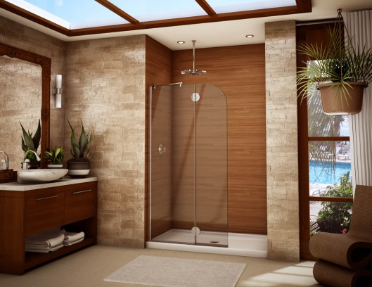 stunning-shower-for-small-bathroom-ideas-with-sliding-shower-door-and-wooden-vanity